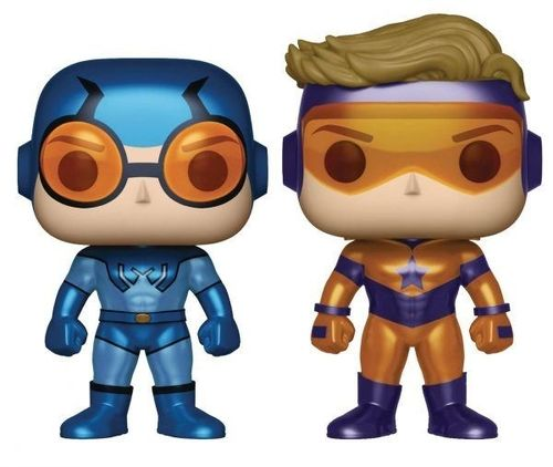 DC Comics POP! - Blue Beetle and Booster Gold (Metallic) 9 cm