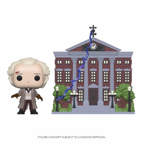 Back to the Future POP! Town Vinyl Figure Doc with Clock Tower 9 cm