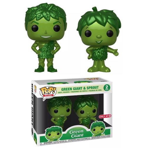 Green Giant POP! Ad Icons Vinyl Green Giant and Sprout 2 Pack 9 cm