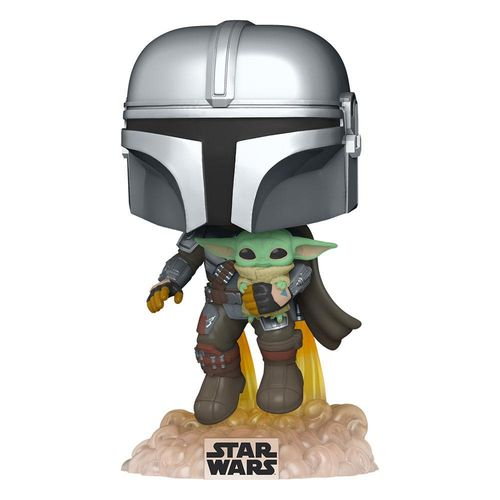 Star Wars The Mandalorian POP! The Mandalorian with The Child 9 cm